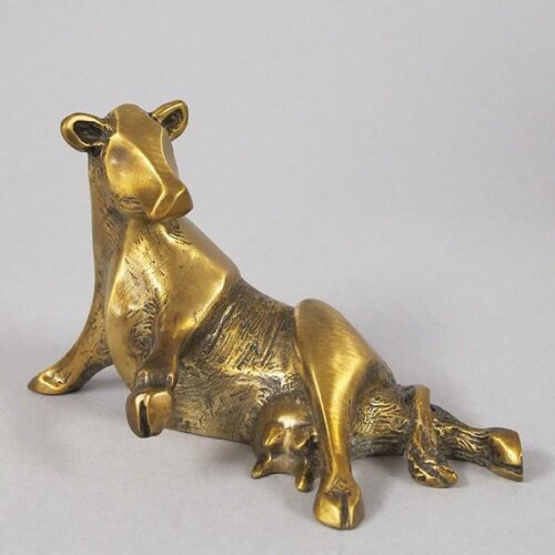 Bronze Cow Sculpture