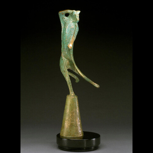 Life is a Cat-baret Bronze Sculpture by Laurel Peterson Gregory