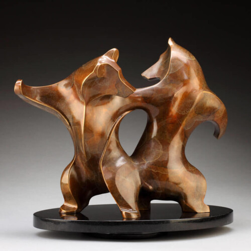 Bronze Bear Sculpture by Laurel Peterson Gregory
