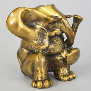 The Thinker - Bronze Elephant Sculpture
