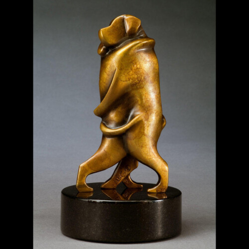 Dancing Dog Couple Bronze Sculpture Statue by Laurel Peterson Gregory