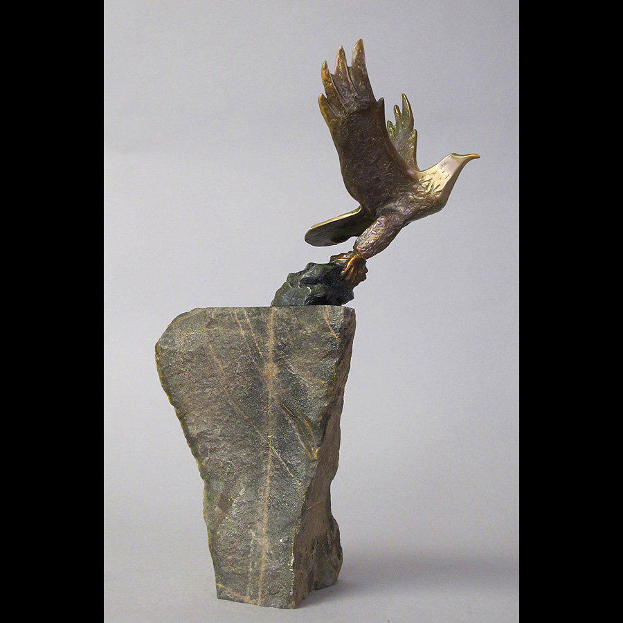 Flying Bird Cliff Bronze Statue