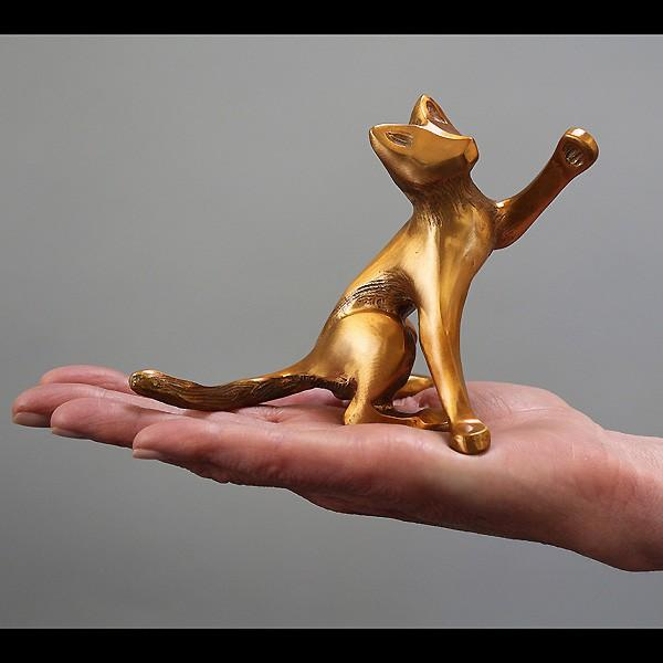 Small Bronze Cat Sculpture