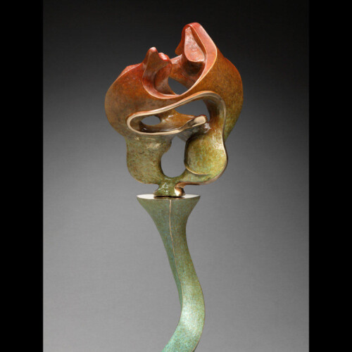 Colorful Dancing Dogs Love Bronze Sculpture by Laurel Peterson Gregory