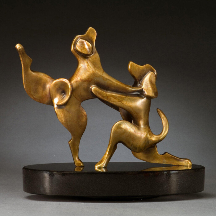 Proposal Statue Beagles Bronze Sculpture by Laurel Peterson Gregory