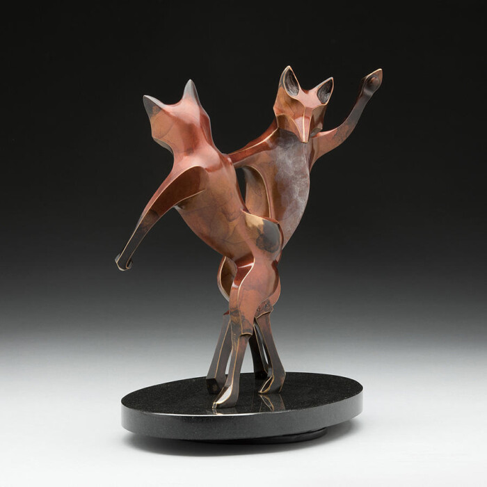 Dancing Fox Sculpture Bump