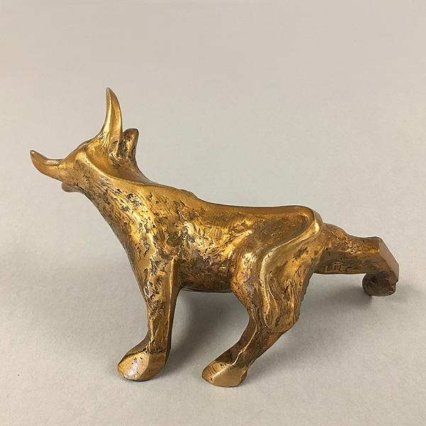 Bronze Bull Sculpture Desk Buddy by Laurel Peterson Gregory